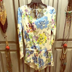 Open back floral romper